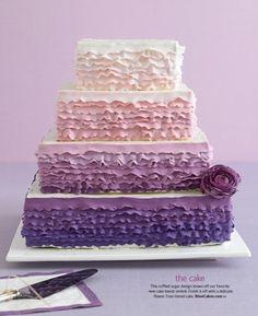 purple wedding #weddingcake