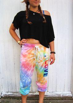 Tie Dye Pants  Pastel Love Lounge by NiceTieDyeAndMore on Etsy, $14.00