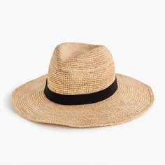c5cf3f1ea86 J.Crew Womens Wide-Brim Packable Straw Hat Vacation Outfits