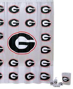 Exceptionnel Georgia Bulldogs 7pc Bathroom Shower Curtain Bath Set