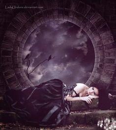 Sleep In Beauty by LadyUndone on deviantart.com #art #dark #beautiful