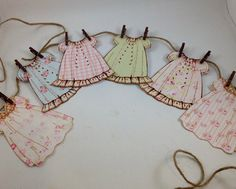 Vintage Paper Doll Dress Banner Garland DIY Paper Lanterns Paper lanterns come in diverse sizes and Tilda Toy, Paper Banners, Doll Party, Vintage Paper Dolls, Vintage Paper Crafts, Kewpie, Little Doll, Paper Decorations, Diy Paper