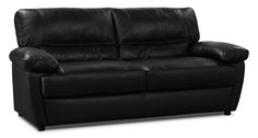This stunning Tess sofa is elegance personified. Using exceptional hand-in-glove tailoring, each seat and back cushion is wrapped in genuine leather upholstery for a refined look. Take a seat and relax on the patented Ecoflex® foam, which is both comfortable and resilient to life's daily labours. With a slightly curved base, oversized seating and contemporary stitching detail, your home will look stylish and chic when you add this couch to your home decor.