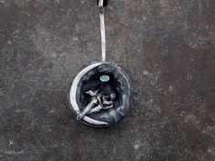 Czapla Art Renata Sosin wisior/Podróżnik www.polandhandmad... #polandhandmade #metalclay #silverclay #pendant
