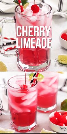 Drink Recipes 540361655290560412 - A cherry limeade recipe made with soda, cherry syrup, and lime juice. It's the best copycat cherry limeade! Source by berlyskitchen Refreshing Drinks, Summer Drinks, Fun Drinks, Healthy Drinks, Healthy Food, Hard Drinks, Beverages, Summer Drink Recipes, Nutrition Drinks