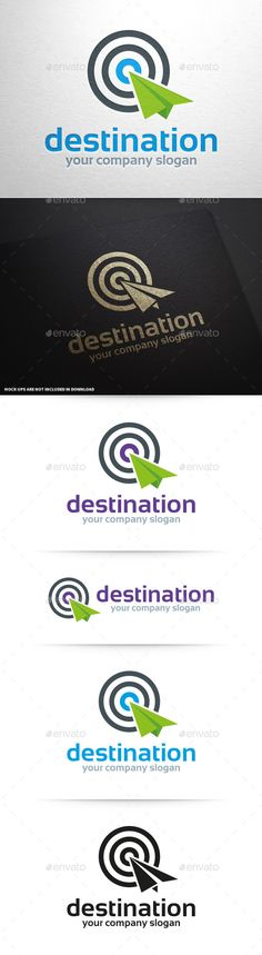 Destination Logo Template — Photoshop PSD #template #tracker • Available here → https://graphicriver.net/item/destination-logo-template/9968008?ref=pxcr