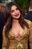 Beauty :: Priyanka Chopra rocked a dark lip at the 2017 Golden Globes, and it's a hit with her fans! (For the record, we are included in that group.)  The Pantene ambassador and Quantico star walked the red carpet wearing subtly champagne eye shadow to match her gold dress. Even though her gown was a statement, it was her vampy lip that caught our eye. Priyanka played up her pout with a super-'90s brown color with a hint of cranberry. It looked gorgeous against her skin tone. We also need to…
