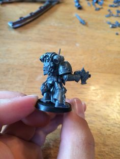 Deathwatch dark angel armed with power sword and bolt pistol