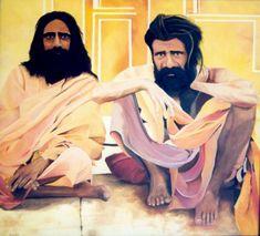 Quadro Pintura by Jorge Marcovich Hindus110x110 cm Oil Painting