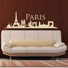 Interieursticker Skyline Parijs