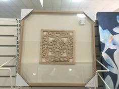 HomeGoods artwork. There a set of three (two diamond-set and one square-set)