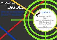 Laser Tag Party Invitations