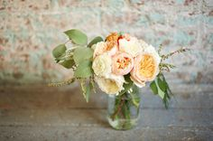 Rustic Vintage Wedding :: Garden Roses Bouquet