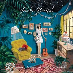 """Hoy es el cumpleaños de una gran amiga, una hermana del alma: Lucila Pivetta 💖 Ésta es la tapa de su último disco """"Lo nuevo, lo viejo, lo azul y lo prestado"""" la cual pinté embarazada, escuchándolo una y otra vez, imaginando ese espacio onírico que ella me había pedido 💕 Fue hermoso y difícil cumplir con este encargo! Pero también de esos desafíos que luego nos hacen felices al concretarlos. En este preciso momento Lu está tocando en Café Vinilo un show que seguramente será precioso, como…"""