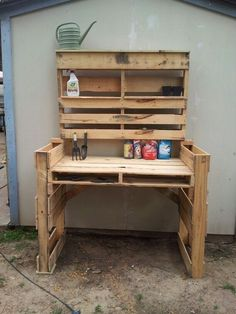 Amazing Shed Plans - Pallet garden table before sanding and paint. - Gardening Rustic Now You Can Build ANY Shed In A Weekend Even If You've Zero Woodworking Experience! Start building amazing sheds the easier way with a collection of shed plans!