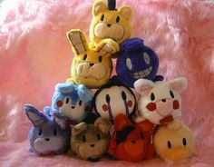 The bidding is over and the plushies have found a new home! Thank you for participating! Stacking plushie commissions are now open: fav.me/d99l5at Finally, they're here! A bunch of adorable Fn...