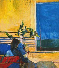 Richard Diebenkorn - Girl with Plant, 1960, oil on canvas