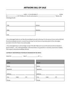 Bill Of Sale Template Free Elegant Artwork Bill Of Sale Budget Template, Art Template, Christmas Letter Template, Printable Graph Paper, Emoji Texts, Bill Of Sale Template, List Of Jobs, Proposal Templates, Selling Art