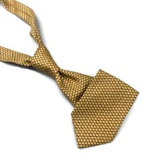 Hardy Amies Silk Tie Tiles Pattern Wide 60  x 4  Yellow Geometric Savile Row