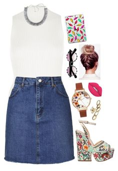 """trying to hit me with the funkiness"" by blogging on Polyvore featuring River Island, Topshop, Sergio Rossi, Casetify and Lime Crime"