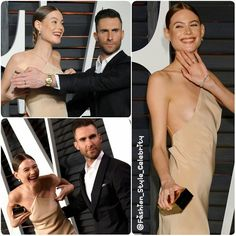 #AdamLevine puts his hand over his wife #BehatiPrinsloo's chest to hide her nip slip at the #VanityFair #partyThe married couple were walking down the red carpet when Behati had a slight wardrobe malfunction.Looks like her man came to the rescue!... - Celebrity Fashion