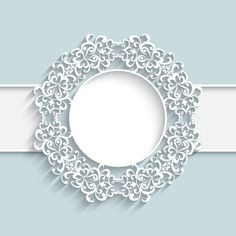 Paper lace frame vector background 01 - Vector Background, Vector Frames & Borders free download