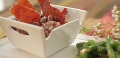 Kentucky Red Beans and Rice Topped with Crispy Country Ham By Damaris Phillips