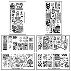 BMC 6pc Super Cute Historically Themed XL Nail Polish Art Stamping Plates: Time Machine Master Set >>> This is an Amazon Affiliate link. Want to know more, click on the image.