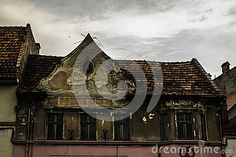 Creepy House Kronstadt Full Stock Photo - Image of house, roof: 96774112 Creepy Houses, Big Ben, Stock Photos, Building, Travel, Image, Spook Houses, Viajes, Buildings
