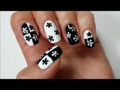Easy Nail Art Design For Beginners!!! #2 (Monochrome) - YouTube