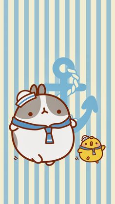 """Dancing the """"Sailors Horn Pipe"""". Chibi Kawaii, Kawaii Bunny, Kawaii Cute, Cute Animal Drawings, Kawaii Drawings, Cute Drawings, Illustration Mignonne, Cute Illustration, Pikachu Pikachu"""
