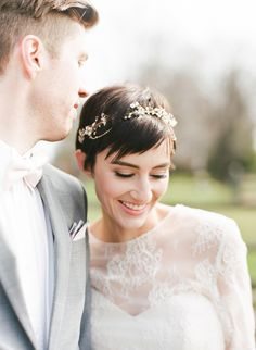 20 Sublime Wedding Hairstyles for Short Haired Bri. 20 Sublime Wedding Hairstyles for Short Haired Brides – Elegant Wedding Hair, Short Wedding Hair, Wedding Hair Down, Wedding Hair And Makeup, Wedding Hair Accessories, Bride Short Hair, Wedding Veils, Bridal Pixie Hair, Trendy Wedding