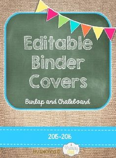 These binder covers include six cute colors with spines that match. There are two editable fields for you to customize.You will need to download two fonts for them to appear the way they do on the cover:KG: Second Chances SketchKG: Always a Good Time Both are free downloads in Kimberly Geswein's Store.