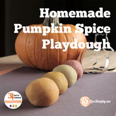 Homemade Pumpkin Spice Playdough with Natural Dyes. Safe for little hands and mouths. my boys will love this