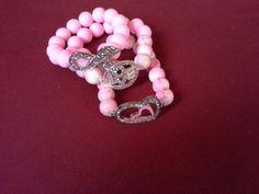 Pink love bracelet set Handmade by letitia ☆ ♥