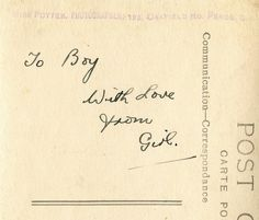 To Boy...With Love, From Girl.