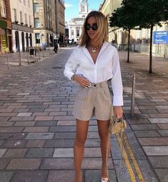 Cute Casual Outfits, Short Outfits, Stylish Outfits, Spring Outfits, Elegant Summer Outfits, Casual Jeans, Classy Chic Outfits, Best Outfits, Classy Shorts Outfits