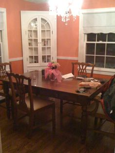 Image result for coral and green dining room