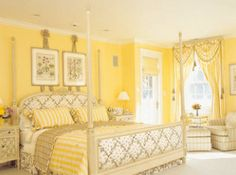 Cozy Cottage-Style Bedrooms | Yellow cottage and Bedrooms