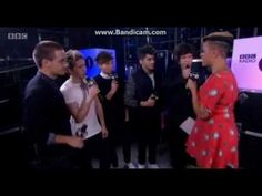 One Direction being interviewed backstage at the Teen Awards