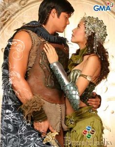 Ybrahim and Alena: King and Queen of the Kingdom of Sapiro; portrayed by Dingdong Dantes and Karylle. Gma Network, Filipino, Wonder Woman, King, Queen, Mens Fashion, Superhero, Boys, Moda Masculina