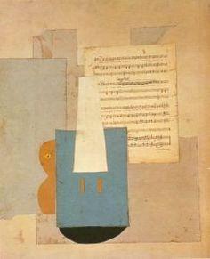 Violín y partitura, Pablo Picasso