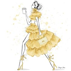 Megan Hess Illustration, Mats Gustafson, Kerrie Hess, Fashion Sketches, Fashion Illustrations, Fashion Drawings, Fashion Artwork, Coffee To Go, A Christmas Story