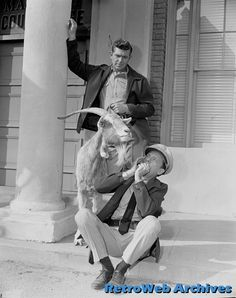 """Andy Griffith and Don Knotts with the """"Loaded Goat"""""""