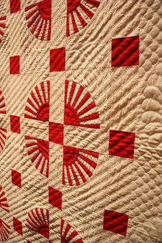 American Folk Art Museum ~ Infinite Variety: Three Centuries of Red and White Quilts.