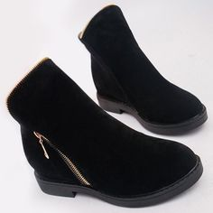 GET $50 NOW | Join RoseGal: Get YOUR $50 NOW!http://www.rosegal.com/boots/flat-heel-zipper-round-toe-864223.html?seid=7945029rg864223