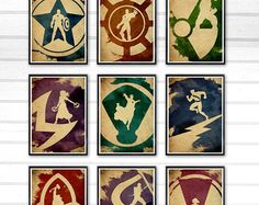 Justice League Minimalist Poster Set / 8 Poster / by moonposter
