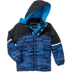 iXtreme Boys Puffer Jacket, Available in 4 Designs 11 Colors, Boy's, Size: 14/16, Blue