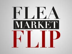 Flea Market Flip Tips from HGTV. Short videos about Flea Market finds, then making them into useful items around the house.
