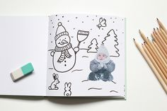 DIY: Malbuch mit Fotos